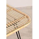Zenta Rattan Esstisch und 4 Stühle Set, Miniaturansicht 4