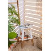 Niedriger Hocker in Dipeado Bamboo Warpol, Miniaturansicht 6