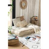 Doppelkissen für modulares Sofa aus Baumwolle Dhel Boho, Miniaturansicht 1