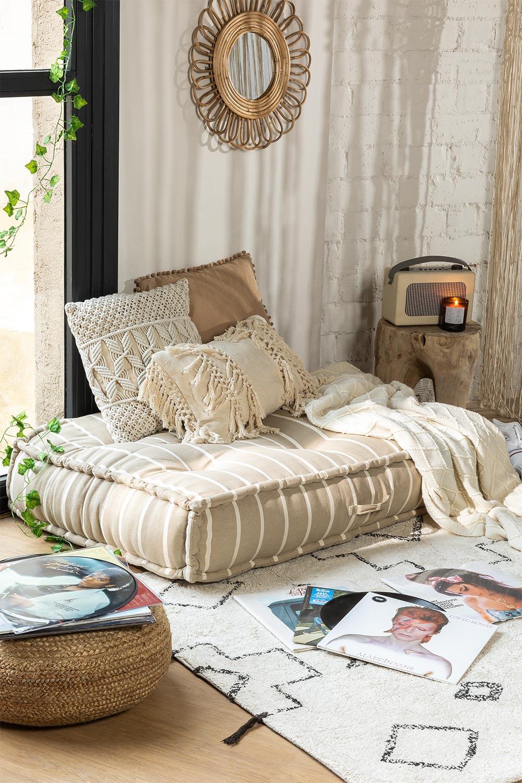 Doppelkissen für modulares Sofa aus Baumwolle Dhel Boho, Galeriebild 1