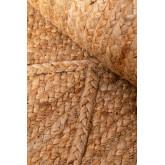 Geflochtener Teppich aus Jute natur (233x167 cm) Elaine, Miniaturansicht 4