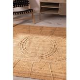 Geflochtener Teppich aus Jute natur (233x167 cm) Elaine, Miniaturansicht 5