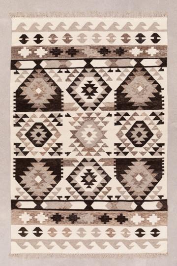 Teppich aus Wolle und Baumwolle (250x165 cm) Logot