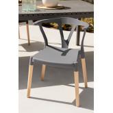 Gartenstuhl aus Polyethylen und Uish Wood, Miniaturansicht 1