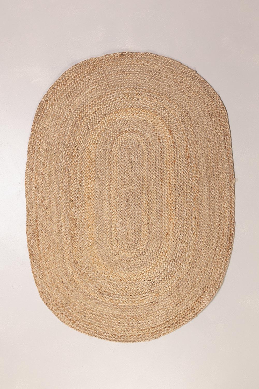Ovaler natürlicher Juteteppich (140x100 cm) Tempo, Galeriebild 1
