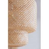 Deckenleuchte aus Bambus (Ø45 cm) Lexie Natural, Miniaturansicht 3