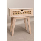 Ralik Style Nachttisch mit Schublade aus Holz, Miniaturansicht 3