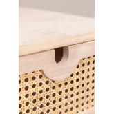 Ralik Style Nachttisch mit Schublade aus Holz, Miniaturansicht 5