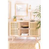 Ralik Style Holz Sideboard, Miniaturansicht 1