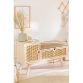 Holzbank mit Ralik Style, Miniaturansicht 1