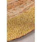 Natürlicher Dagna Jute Teppich (Ø150 cm) Metallic, Miniaturansicht 2