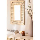 Rechteckiger Wandspiegel aus Holz (60x40 cm) Frey, Miniaturansicht 1