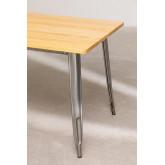 LIX Tisch aus gebürstetem Holz (160x80 cm), Miniaturansicht 4
