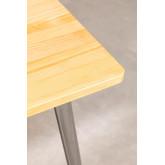 LIX Tisch aus gebürstetem Holz (160x80 cm), Miniaturansicht 5