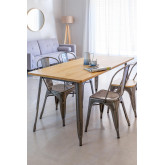 LIX Tisch aus gebürstetem Holz (160x80 cm), Miniaturansicht 1