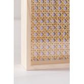 Dekoratives Tablett aus Rattan und Arxie Holz, Miniaturansicht 5