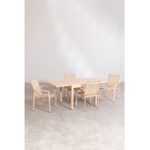 Pack Ausziehbarer Tisch im Freien (90 cm - 180 cm) Starmi & 4 Eika Outdoor Stühle, Miniaturansicht 3