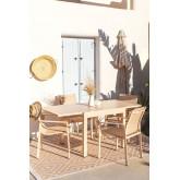 Pack Ausziehbarer Tisch im Freien (90 cm - 180 cm) Starmi & 4 Eika Outdoor Stühle, Miniaturansicht 2
