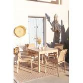 Pack Ausziehbarer Tisch im Freien (90 cm - 180 cm) Starmi & 4 Eika Outdoor Stühle, Miniaturansicht 1