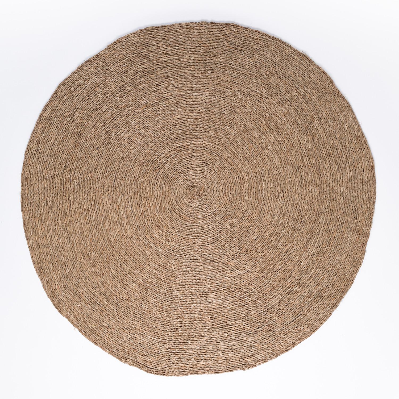 Runder natürlicher Juteteppich (Ø145 cm) Drak, Galeriebild 1