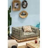 Basis für modulares Sofa in Maomi Wood, Miniaturansicht 1