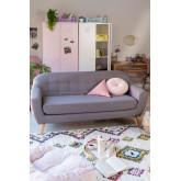 3 Sitzer-Sofa in Leine und Stoff Aktic, Miniaturansicht 1
