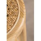 Hoher Hocker Sharla aus Holz und Rattan, Miniaturansicht 6