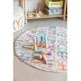 Runder Baumwollteppich (Ø104 cm) Buchstaben Kinder, Miniaturansicht 1