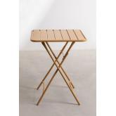 Klappbarer Gartentisch aus Stahl (60 x 60 cm) Janti , Miniaturansicht 3