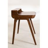 Alvar Wood Desk mit Schubladen, Miniaturansicht 4