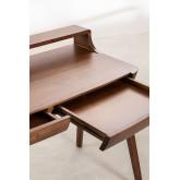 Alvar Wood Desk mit Schubladen, Miniaturansicht 5