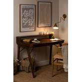 Alvar Wood Desk mit Schubladen, Miniaturansicht 2