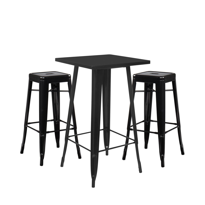 Stellen Sie High Table LIX & 2 High Stools LIX ein, Galeriebild 1