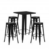 Stellen Sie High Table LIX & 4 High Stools LIX ein, Miniaturansicht 1