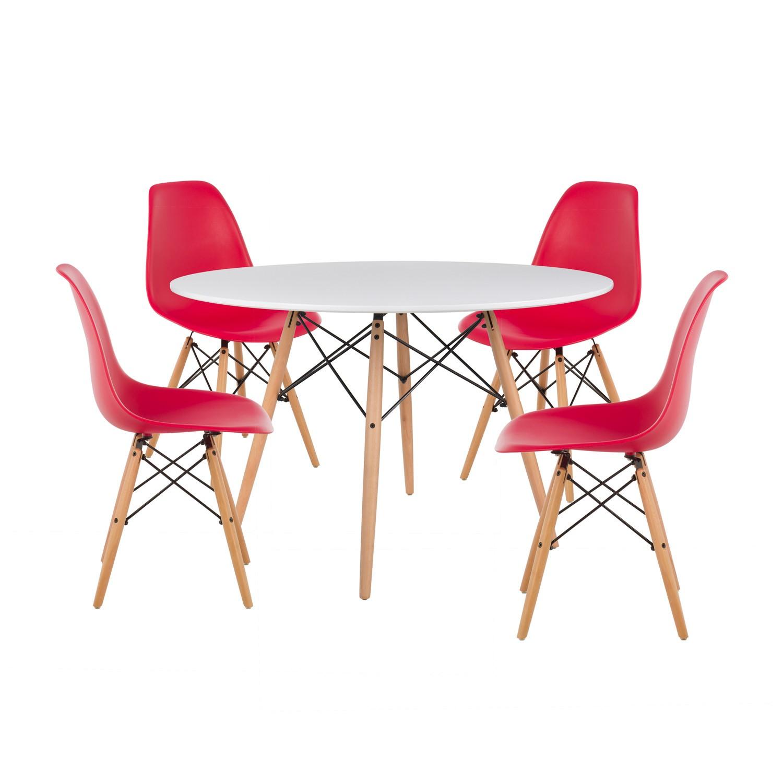 Set 4 Stühle & Tisch IMS Ø120 - Sklum DE