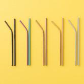 Strohhalme Kürv Metall Matt, Miniaturansicht 3