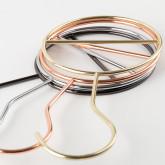 Set 6 Kleiderbügel Metall für Accessoires, Miniaturansicht 4