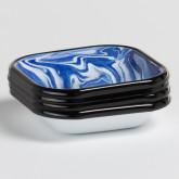 Pack aus 4 quadratische Teller Bleh by Bornn, Miniaturansicht 1