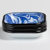 Pack aus 4 quadratische Teller Bleh by Bornn, Miniaturansicht 2