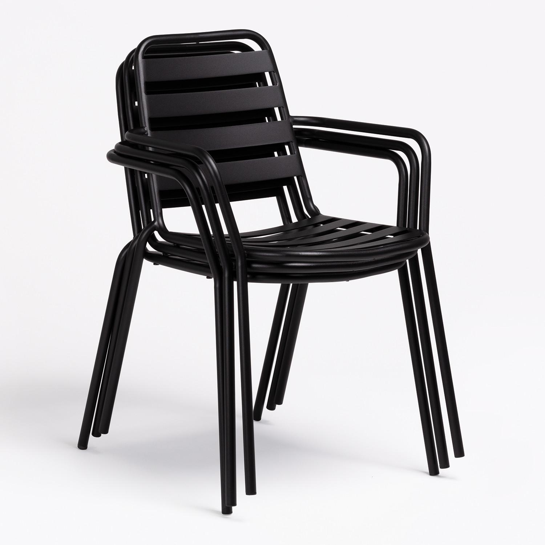 Pack Tisch Dehna & 4 Stühle Mit Armlehnen Dehna SKLUM