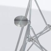 Mesa Redonda en Cristal y Acero (Ø80 cm) Scand Brich Edition