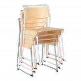 Stuhl aus Metall und Eichenholz Viki, Miniaturansicht 5