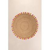 Runder natürlicher Juteteppich (Ø157 cm) Stoßdämpfer, Miniaturansicht 2