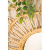 Ovaler Rattan-Wandspiegel (60,5 x 51,5 cm) Zaan, Miniaturansicht 2
