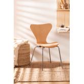 Stuhl Uit Naturholz, Miniaturansicht 1