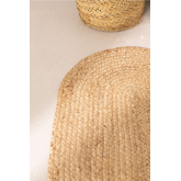 Ovale natürliche Jute-Fußmatte (73x46 cm) Niemals, Miniaturansicht 4