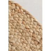 Ovale natürliche Jute-Fußmatte (73x46 cm) Niemals, Miniaturansicht 5