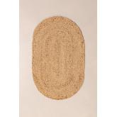 Ovale natürliche Jute-Fußmatte (73x46 cm) Niemals, Miniaturansicht 3