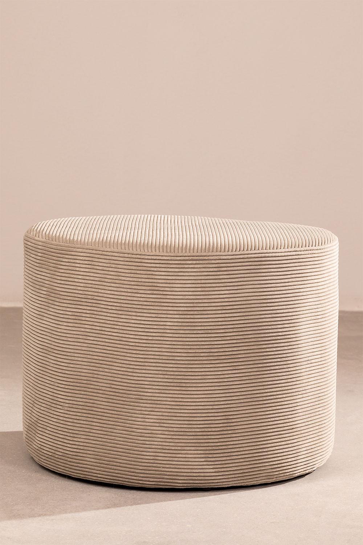 Runder Pouf mit Yango Cord, Galeriebild 1