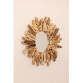 Runder Wandspiegel aus Holz (Ø50 cm) Laki , Miniaturansicht 2